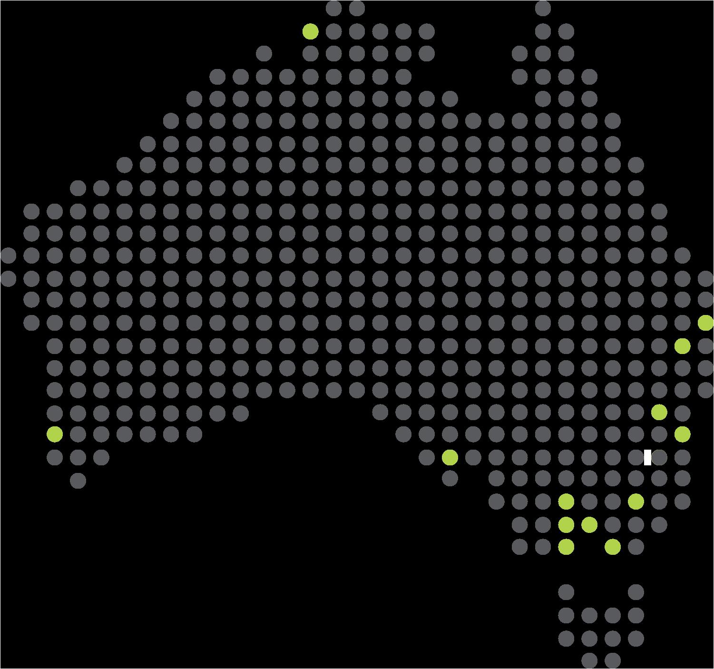 HOBAN Office Locations Around Australia Map