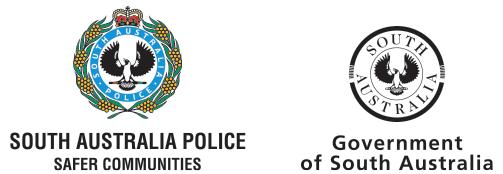 SA Police SA Govt Logo